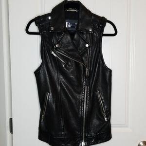 Mackage Moto Leather vest